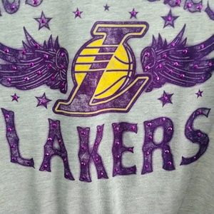 NWT Women's Laker's Bling T-shirt Size Medium